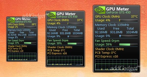 GPU Meter — состояние видеокарты