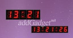Красные цифровые часы