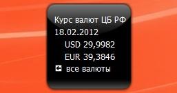 Курс валют от ЦБ РФ