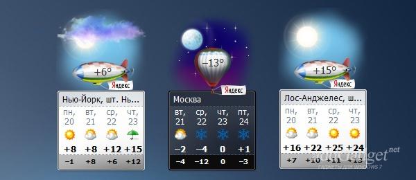 Погода в разных городах