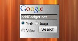 Гаджет для поиска по Google