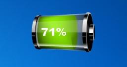 Зеленый индикатор заряда батареи