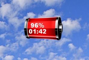 Красный индикатор заряда батареи
