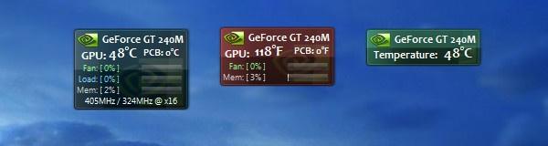Индикатор температуры видеокарты
