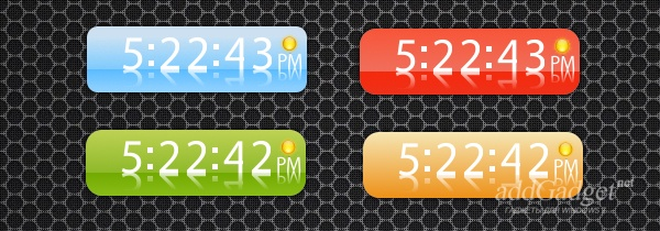 Цифровые часы со скинами