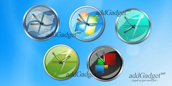 Часы на рабочий стол в стиле Windows 7