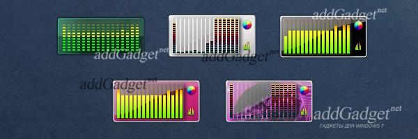 Анализатор спектра звука с разными скинами