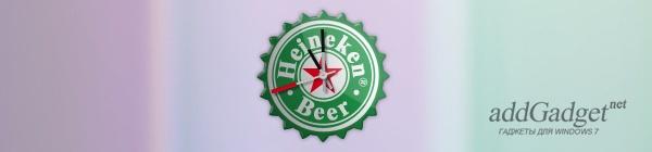 Часы в виде пивной крышки Хайнекен
