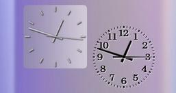 SimpleS Clock — чёрно-белые стрелочные часы с разными фонами