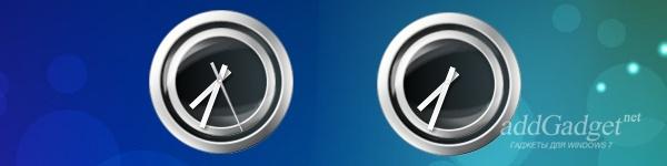 Два варианта часов — с включенной и отключенной секундной стрелкой