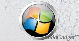 Viblack Clock — аналоговые часы с логотипом Windows