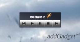 Гаджет для управления проигрывателем Winamp