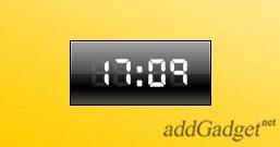 Чёрные цифровые часы