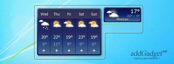 Окно погоды на пять дней