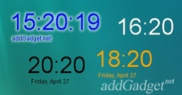 Цифровые часы с датой