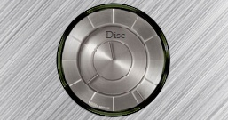 Часы в виде металлического диска