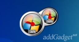 Индикатор загрузки процессора и памяти в стиле Windows