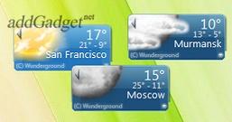 Weather Underground — гаджет прогноза погоды в любой точке мира