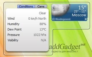 Отображение дополнительной информации о погоде