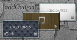 Простой гаджет радио с большим списком зарубежных радиостанций