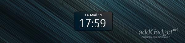 Гаджет цифровых часов для рабочего стола