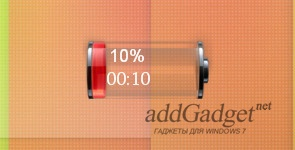 Уровень заряда батареи ноутбука в стиле iOS