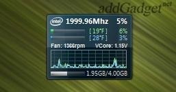 Intel Core Series — гаджет загрузки и температуры процессора