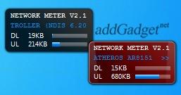 Гаджет скорости интернета