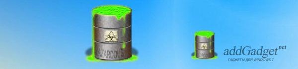 Корзина для рабочего стола в виде бочки с токсическими отходами
