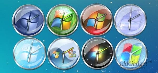 Гаджет стрелочных часов в стиле Windows 7
