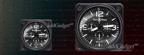 Отображение часов в большом и маленьком размере