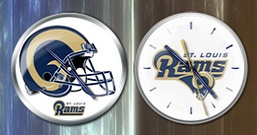 St. Louis Rams Clock