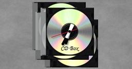 Часы в виде стопки CD-дисков