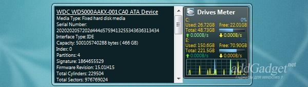Подробная информация о жестком диске (HDD)