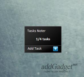 Task Noter — гаджет для создания заметок и списка дел