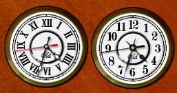 Часы в ретро-стиле