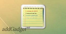 To Do Notes — гаджет для создания списка задач на рабочем столе