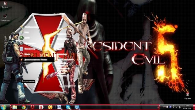 Тема для Windows 7 в стиле игры Resident evil 5 - Скриншот #2
