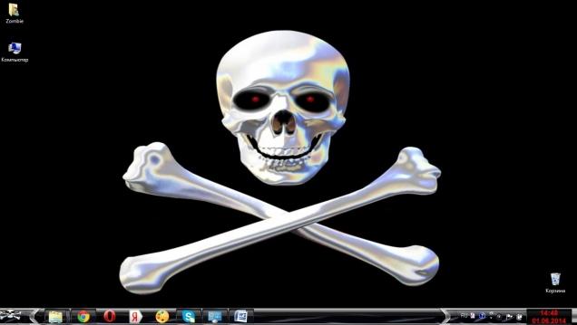 Тема с черепами и костями для Windows 7 - Скриншот #2