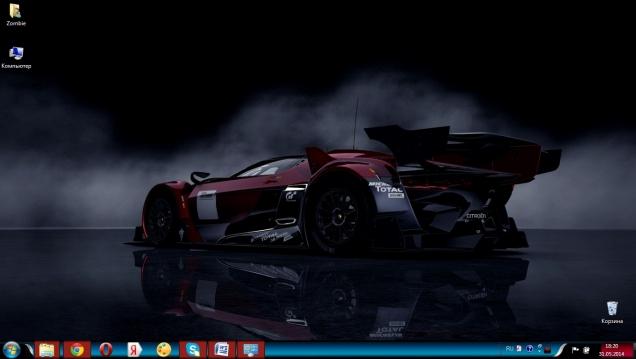 Тема в стиле игры Gran Turismo 5 - Скриншот #1