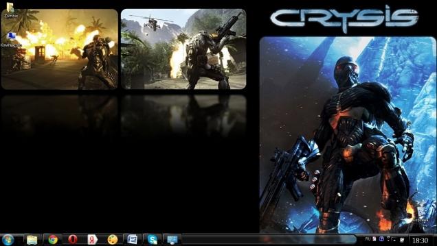 Тема для Windows 7 в стиле игры Crysis - Скриншот #1