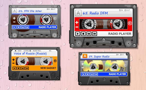 Гаджет онлайн радио в виде аудиокассеты