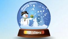 Снежный шар с отсчетом времени до Нового года