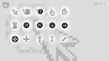 Серые минималистические курсоры