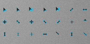 Темные курсоры с неоновой подсветкой