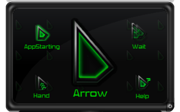 Свежие курсоры с зеленым градиентом