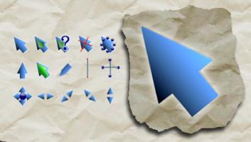 Синие масштабные курсоры