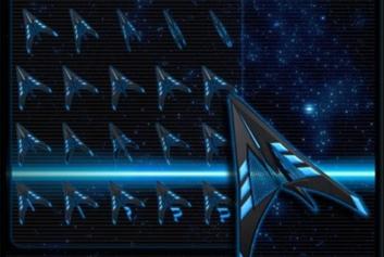 Голубые курсоры в космическом стиле