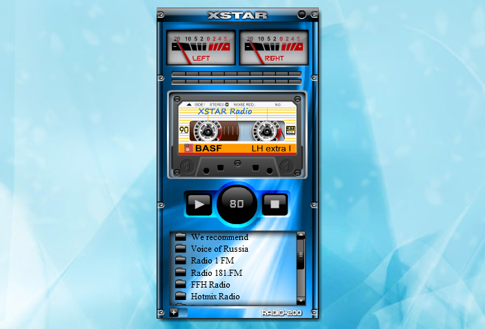 XIRadio — гаджет онлайн радио