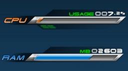 Индикатор загрузки процессора или памяти в стиле игры FinalFantasy